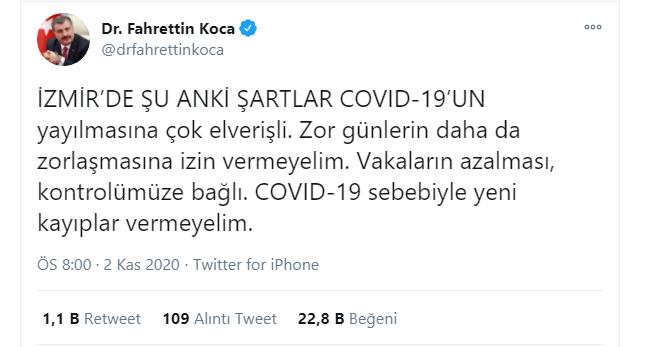 Deprem Bölgesi İzmir'de Covid-19 Alarmı